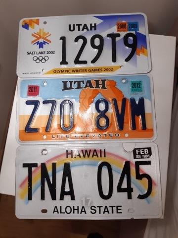 TABLICE США HAWAII,UTAH,UTAH OLIMPIADA