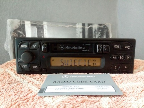РАДИО MERCEDES AUDIO 5 RDS + КАРТА W201 124 W126