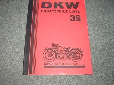 DKW SB 500 - KATALOG ЗАПЧАСТИ