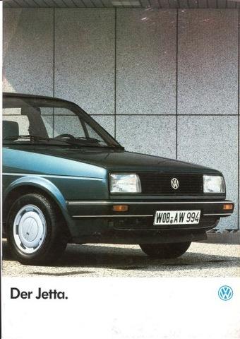 VW JETTA - prospekt 1986