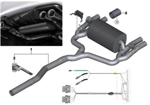Wydech м-производительность BMW F87 м2
