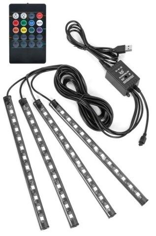ОСВЕЩЕНИЕ АВТО X12 СВЕТОДИОД LED USB РЕМНИ RGB ПУЛЬТ УПРАВЛЕНИЯ