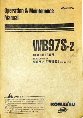 KOMATSU WB97S-2 ИНСТРУКЦИЯ OPERATORA ENG