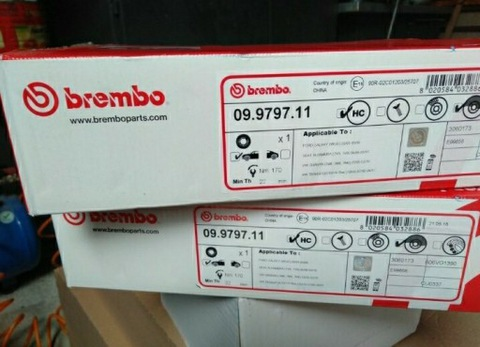 BREMBO 09.9797.11 DISCOS DE FRENADO FORD SEAT VW