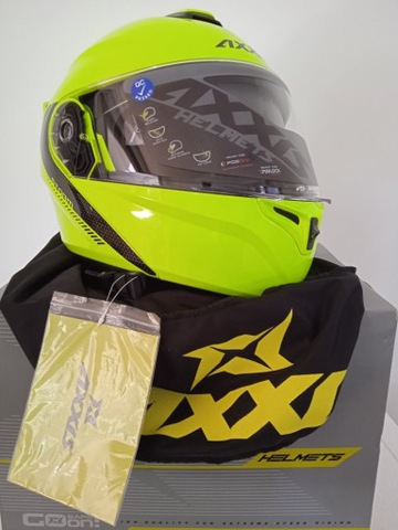 ШЛЕМ МОТОЦИКЛЕТНЫЙ  AXXIS SOLID A3 YELLOW/M