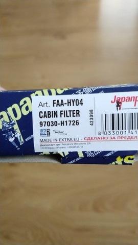 FILTRO DE CABINA HYUNDAI TERRACAN FAA-HY04