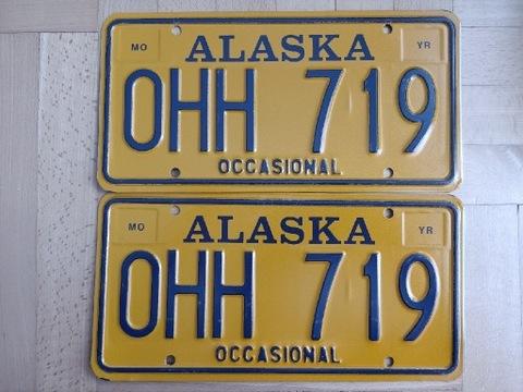 ПАРА TABLIC С STANU ALASKA США