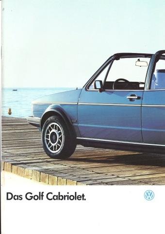 VW GOLF Cabriolet - prospekt 1986