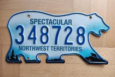 Rzadka tablica z Kanady Northwest Territories