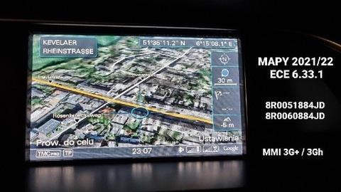 AUDI MMI 3G+ 3GH КАРТЫ 6.33.1 2021/2022 8R0051884JD