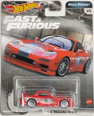 Hot Wheels Premium 95 Mazda RX-7 Fast And Furious