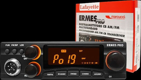 CB RADIO LAFAYETTE ERMES PRO + POTENTE ANTENA