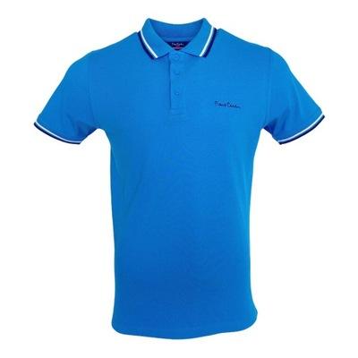 Koszulka polo męska Pierre Cardin niebieski r.L