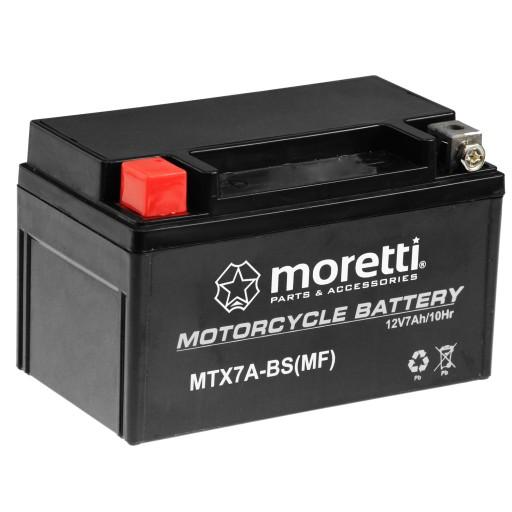 аккумулятор żelowy mtx7a-bs ytx7a-bs 7ah moretti, фото