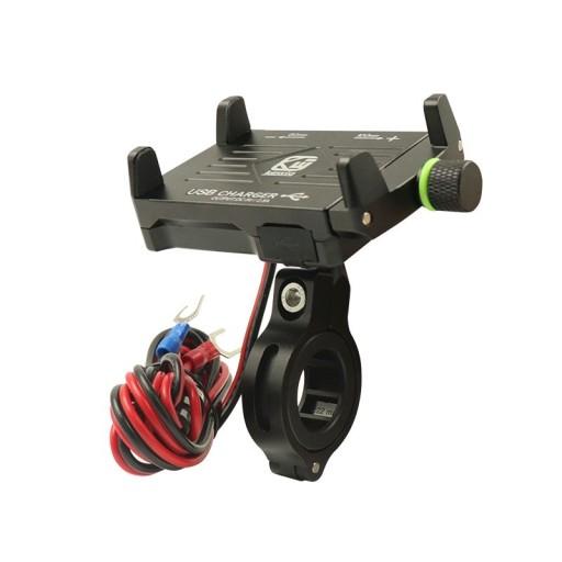 зарядка мотоциклетная крепеж на telefon usb 2.5a, фото