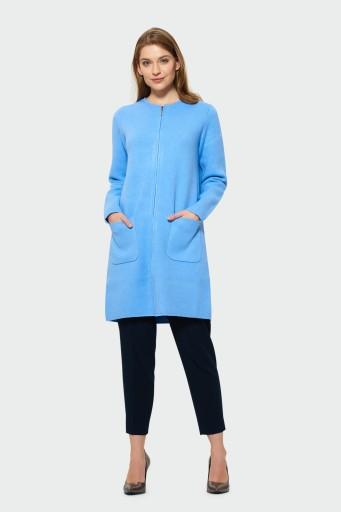 Płaszcz wiosenny swetrowy Greenpoint niebieski r M