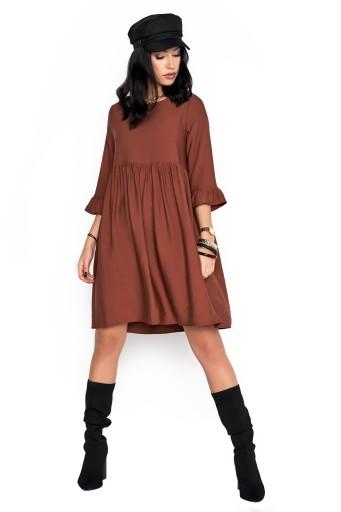 Sukienka Sugarfree oversize brązowa rozmiar M