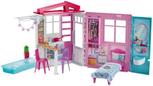 Barbie Przytulny domek dla lalek FXG54