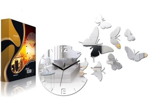 Zegar ścienny ModernClock - MOTYLE Lustro Mirror