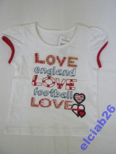 MATALAN TODDLER GIRLS  BLUZKA LOVE  9-12m-cy