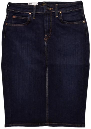 LEE spódniczka blue jeans PENCIL SKIRT_ W27