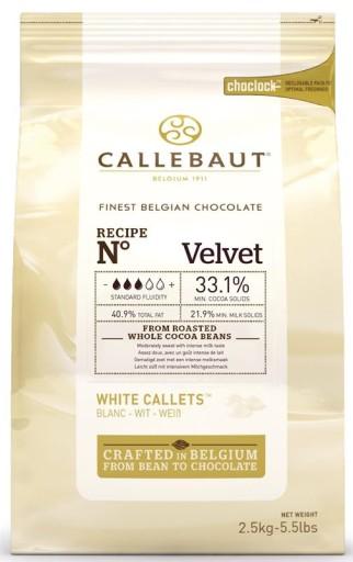 Czekolada BIAŁA do fontann Callebaut 2,5kg