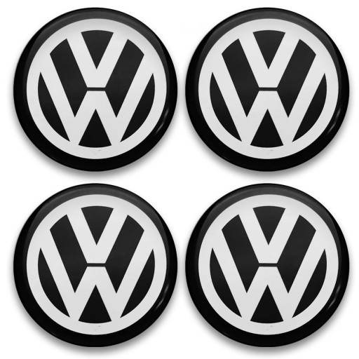 50mm EMBLEMATY NA KOŁPAKI DO VW ZAMIENNIK