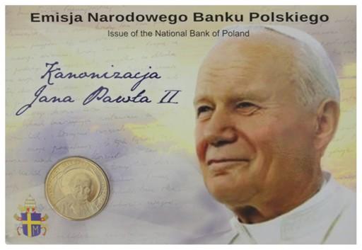 2 zł -2014- Kanonizacja Jan Paweł II - BLISTER!