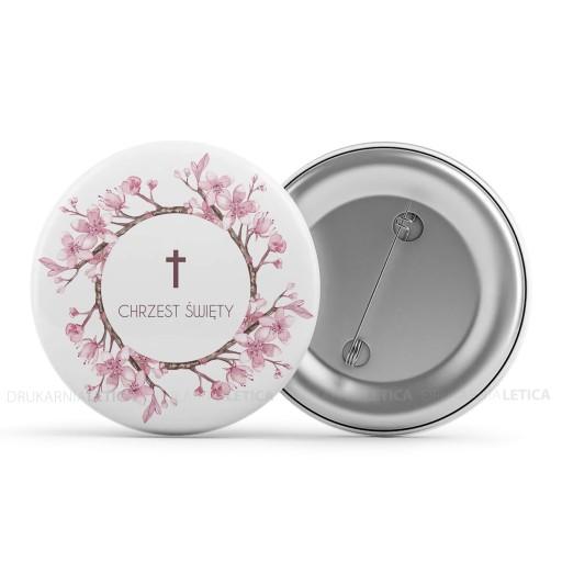 Przypinki do ubrań Kwiatowe na Chrzest Święty