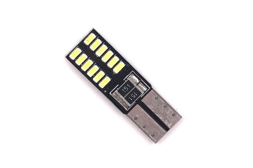 W5W żarówka LED 24 SMD 4014 DWUSTRONNA 270lm