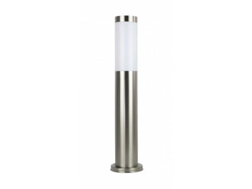 Lampa OGRODOWA stojąca słupek INOX 45cm okrągła
