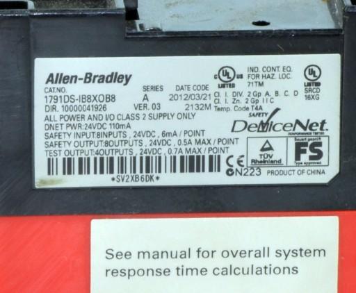 CompactBlock Guard Safety I/O 1791DS-IB8XOB8 Allen