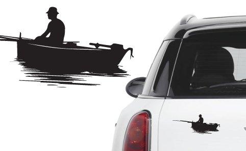 Naklejka winyl. na samochód/samochodowa - rybak