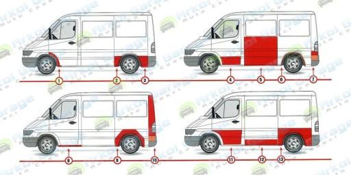 REPERATURKA POSZYCIA DZWI SPRINTER VW LT II L/P