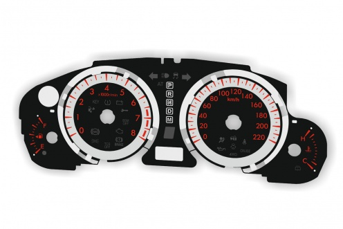 Tarcze licznika Mazda CX-9 zamiennik MPH na km