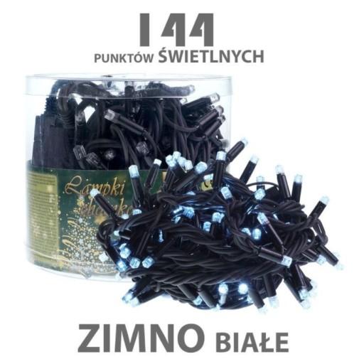 RUDAPOL Lampki choinkowe zewnętrzne LED-144 białe