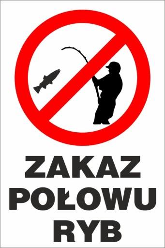 tabliczka zakaz połowu ryb ZŁ06 40x60 cm 7209157351 - Allegro.pl