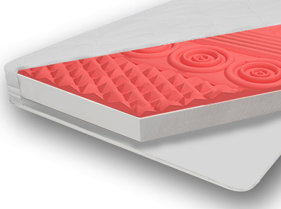 Strefowy Materac do łóżeczka 120x60x10 cm Pianka