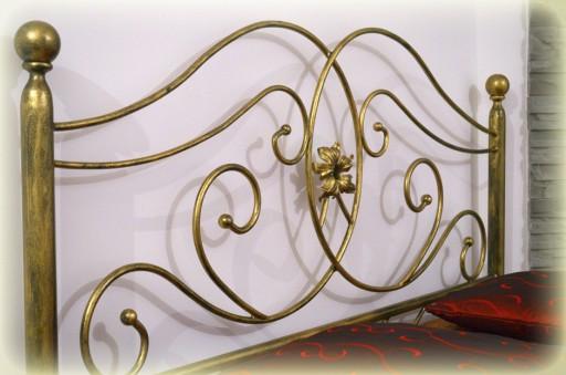 łóżko Metalowe Aleksandra 180x200 Z Niskim Przodem