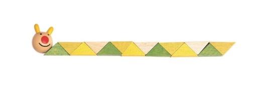 Drewniane klocki twist kreatywne 21 cm zwierzaki