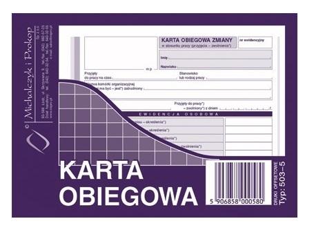 Druk 503 5 Karta Obiegowa Zmiany A6 Michalczyk 7154702566 Allegro Pl