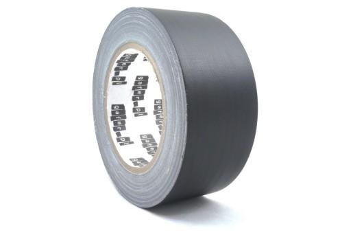 50 mm x 25 m gaffa czarna taśma klejąca matowa