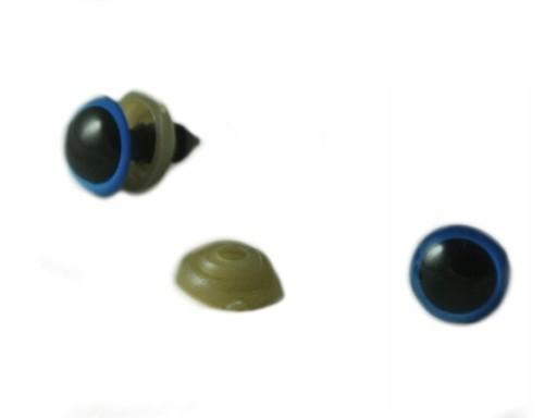 OC-012 OCZY do zabawek BEZPIECZNE niebieskie 11mm