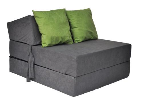 Fotel Rozkładany 15cm Materac Sofa Pufa Kanapa