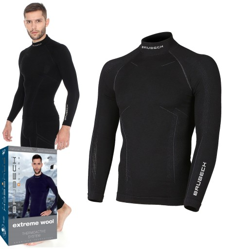bluza męska brubeck extreme wool ls11920