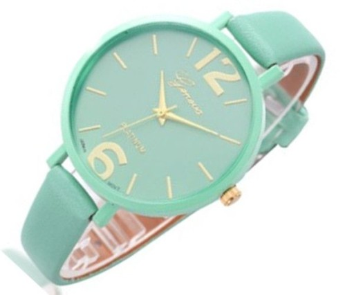 Damski zegarek z dużą tarczą GENEVA A112 ziel