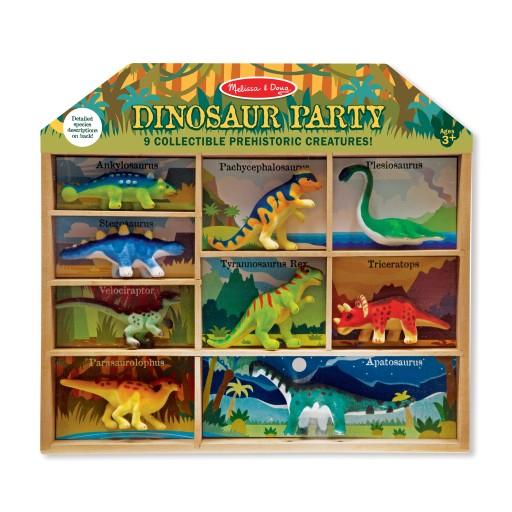 MelissaandDoug Zestaw figurek Dinozaury w skrzynce