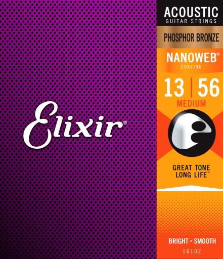 Struny Elixir NanoWeb Phosphor Bronze 13-56 16102
