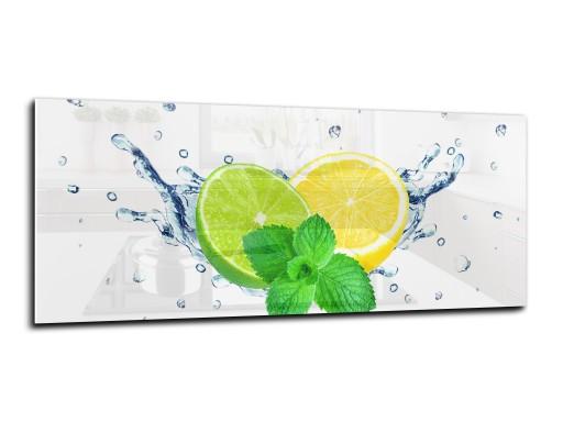 panel szklany do kuchni lacobel 125x50 limonka
