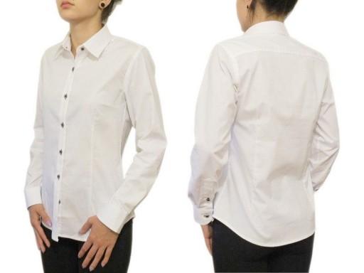 46XXXL Biała koszula damska elegancka slim KOLORY  bqv0z